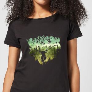 T-Shirt Harry Potter Patronus Lake - Nero - Donna