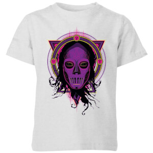 Harry Potter Death Mask 2 Neon Kids' T-Shirt - Grey