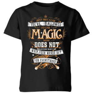 T-Shirt Harry Potter Whip Your Wands Out - Nero - Bambini