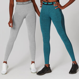 MP Black Friday Two Pack 2.0 Curve Leggings - Grey/Lagoon