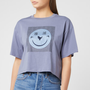 Coach 1941 Women's Cropped Yeti Out T-Shirt - Periwinkle