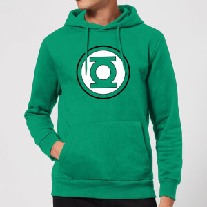 Justice League Green Lantern Logo Hoodie - Kelly Green