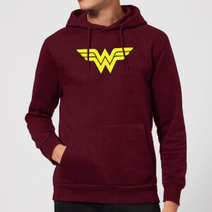 Justice League Wonder Woman Logo Hoodie - Burgundy