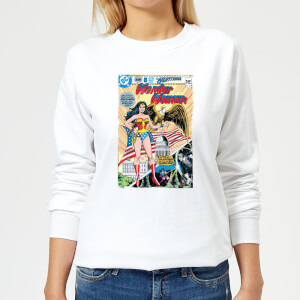 Justice League Wonder Woman Cover Women's Sweatshirt - White