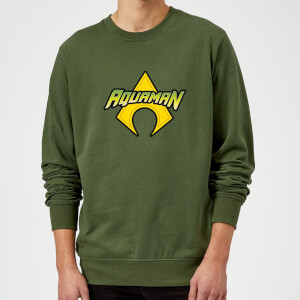 Justice League Aquaman Logo Sweatshirt - Forest Green