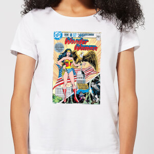 Justice League Wonder Woman Cover Women's T-Shirt - White