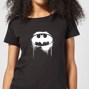 Justice League Graffiti Batman Women's T-Shirt - Black