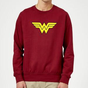 Justice League Wonder Woman Logo Sweatshirt - Burgundy