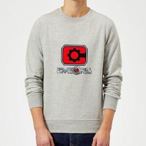 Justice League Cyborg Logo Sweatshirt - Grey