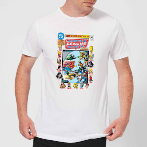 Justice League Crisis On Earth-Prime Cover Men's T-Shirt - White