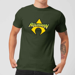 Justice League Aquaman Logo Men's T-Shirt - Forest Green