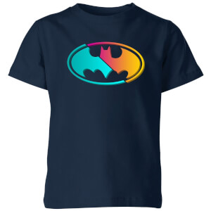 Justice League Neon Batman Kids' T-Shirt - Navy