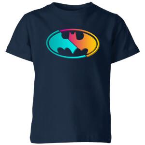 Justice League Neon Batman Kids' T-Shirt - Navy