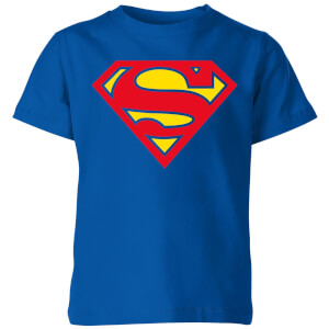 Justice League Supergirl Logo Kids' T-Shirt - Royal Blue