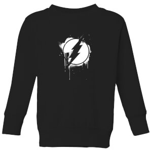 Justice League Graffiti The Flash Kids' Sweatshirt - Black