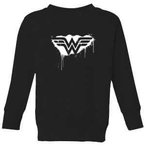 Justice League Graffiti Wonder Woman Kids' Sweatshirt - Black
