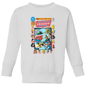 Justice League Crisis On Earth-Prime Cover Kids' Sweatshirt - White