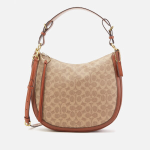 Coach Women's Signature Sutton Hobo Bag - Tan Rust