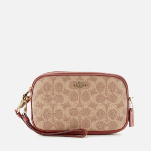 Coach Women's Colorblock Signature Cross Body Clutch Bag - Tan Rust