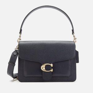 Coach Women's Mixed Leather Tabby Shoulder Bag - Midnight Navy