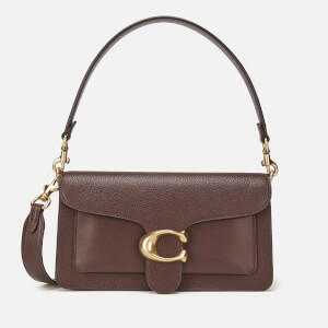 Coach Women's Mixed Leather with Polished Pebble Tabby Shoulder Bag 26 - Oxblood