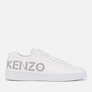 KENZO Women's Tennix Leather Low Top Trainers - White