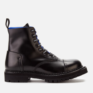 KENZO Men's Kamden Leather Lace Up Boots - French Blue