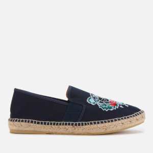 KENZO Men's Tiger Head Elastic Espadrilles - Navy Blue
