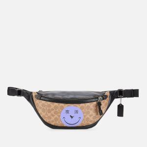 Coach Signature Rivington Belt Bag with Rexy by Yeti Out - JI/Khaki