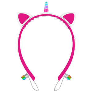 Live Love Music Light Up Unicorn LED Bluetooth Headphones - Pink