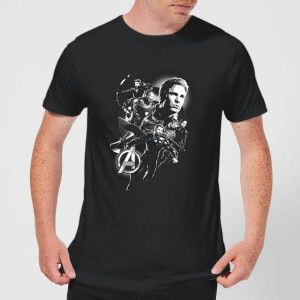 Avengers Endgame Mono Heroes Men's T-Shirt - Black