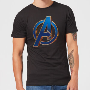 Avengers Endgame Heroic Logo Men's T-Shirt - Black