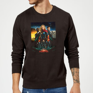 Captain Marvel Movie Starforce Poster Sweatshirt - Black