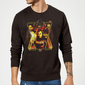 Sweat-shirt Avengers Endgame Distressed Sunburst Homme - Noir