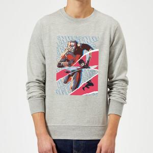 Marvel Avengers AntMan And Wasp Collage Sweatshirt - Grey