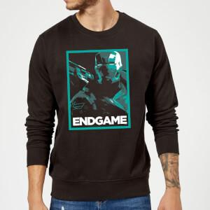 Avengers Endgame War Machine Poster Sweatshirt - Black