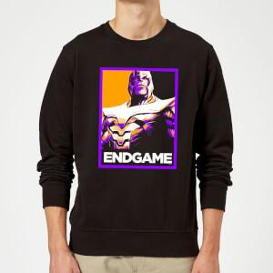 Avengers Endgame Thanos Poster Sweatshirt - Black