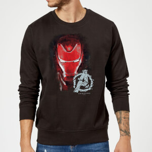 Avengers Endgame Iron Man Brushed Sweatshirt - Schwarz