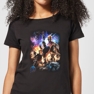 T-Shirt Avengers Endgame Character Montage - Nero - Donna