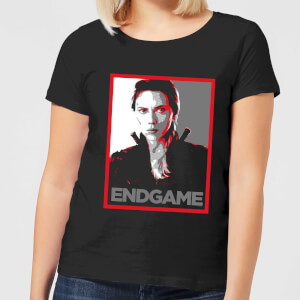 Avengers Endgame Black Widow Poster Women's T-Shirt - Black