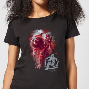 T-shirt Avengers Endgame Rocket Brushed - Femme - Noir