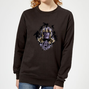 Avengers Endgame Warlord Thanos Women's Sweatshirt - Black