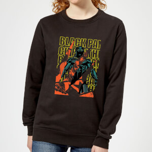 Marvel Avengers Black Panther Collage Women's Sweatshirt - Black