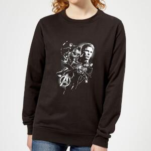 Avengers Endgame Mono Heroes Women's Sweatshirt - Black