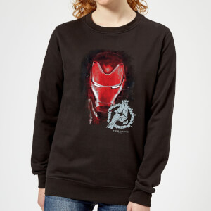 Sweat-shirt Avengers Endgame Iron Man Brushed - Femme - Noir
