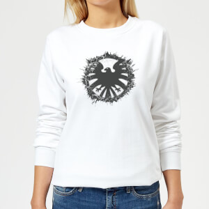 Marvel Avengers Agent Of SHIELD Logo Brushed Women's Sweatshirt - White
