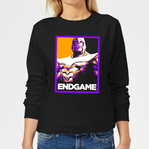 Avengers Endgame Thanos Poster Women's Sweatshirt - Black