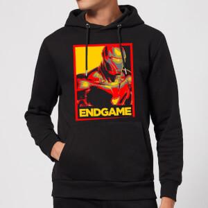 Avengers Endgame Iron Man Poster Hoodie - Black