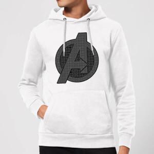 Avengers Endgame Iconic Logo Hoodie - White