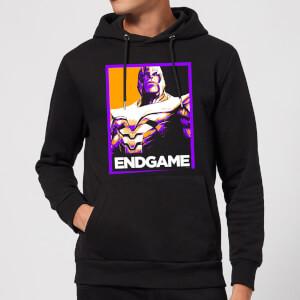 Felpa con cappuccio Avengers Endgame Thanos Poster - Nero